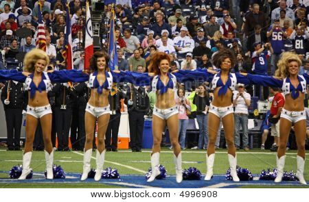 Cowboys Cheerleaders Jump