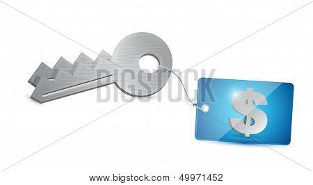 Key Dollar Security Illustration Design