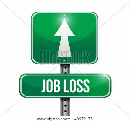 Job Loss Road Sign Illustration Design