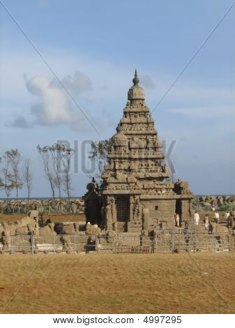 Famous Shore Temple At Mamallapuram, India