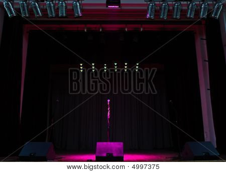 Stage In Lights Blank