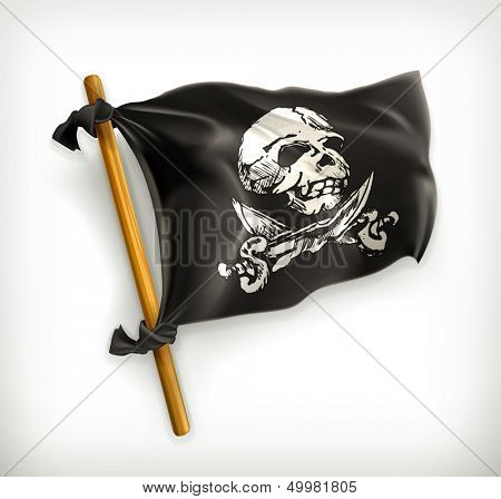 Jolly Roger, vector icon
