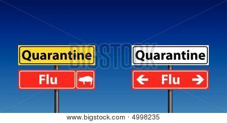 Flu Quarantine Signs