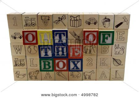 Wall With Out Of The Box Alphabet Blocks