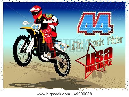 Dirt track rider