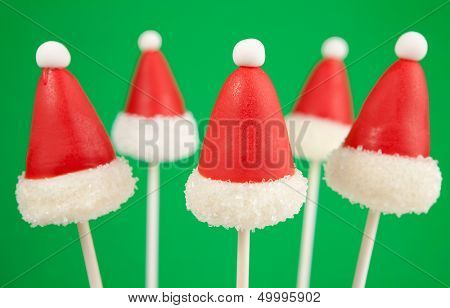 Santa Claus hat cake pops