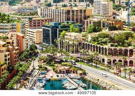 View Of Fontvieille, Monaco