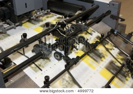 Newspapers At Offset Printed Machine