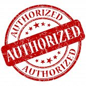 Authorized Red Stamp