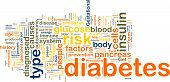picture of diabetes symptoms  - Word cloud concept illustration of diabetes condition - JPG