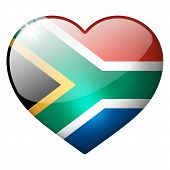 South Africa Heart Button