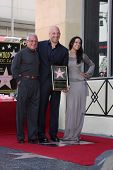 SLOS ANGELES - AUG 26:  Ron Meyer, Vin Diesel, Michelle Rodriguez at the Vin DIesel Walk of Fame Sta