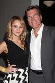 LOS ANGELES - AUG 24:  Hunter King, Peter Bergman at the Young & Restless Fan Club Dinner at the Uni