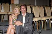 LOS ANGELES - AUG 24:  Melody Thomas Scott, Peter Bergman watching the Jeanne Cooper tribute at the