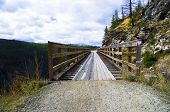 stock photo of penticton  - Historic Trestle Bridge - JPG