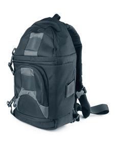 stock photo of sling bag  - Black sling bag isolated on white - JPG