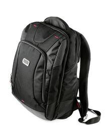 foto of sling bag  - New closed black backpack isolated on white - JPG