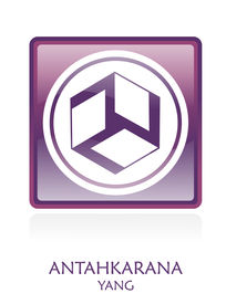 picture of antahkarana  - Antahkarana YANG icon Symbol in a violet rounded square - JPG