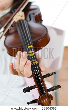 Girl Playing The Violin