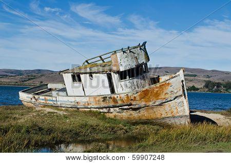 Abandoned Shipwrecked Boat