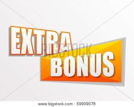 Extra Bonus In Flat Design Label