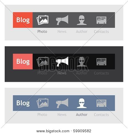 Navigation Icons for Blog