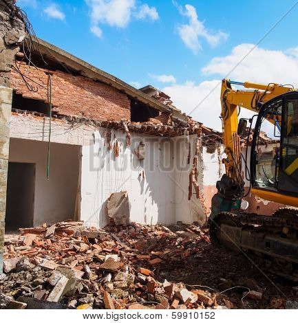 Dismantling Of A House - Demolition Of A House