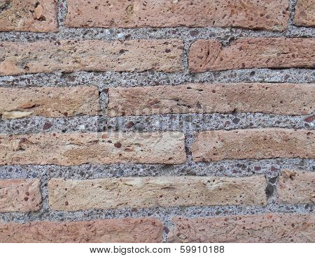 Surface Of Red Bricks