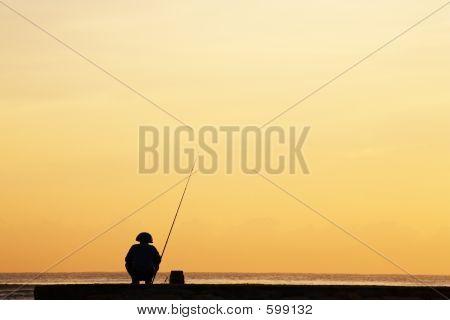 Silhouette der Fischer