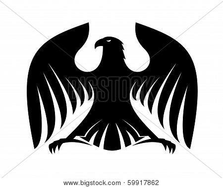 Stylized powerful black eagle silhouette