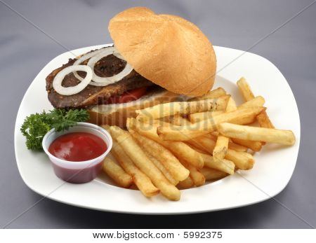 beef buger combo