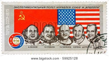 Stamp Printed In The Ussr Shows Experimental Flight Of The Ships