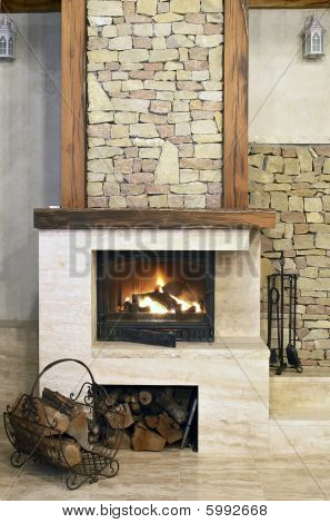 Hot Fire In Chimney