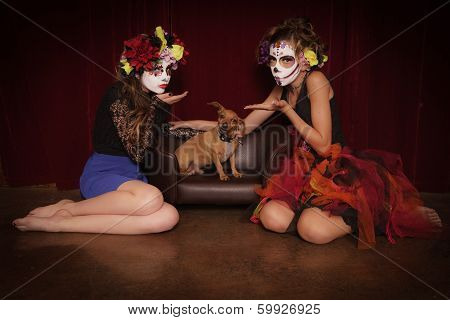 Day Of The Dead Blowing Kisses