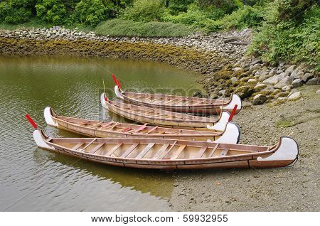 Four Rowboats In False Greek,vancouver, Canada