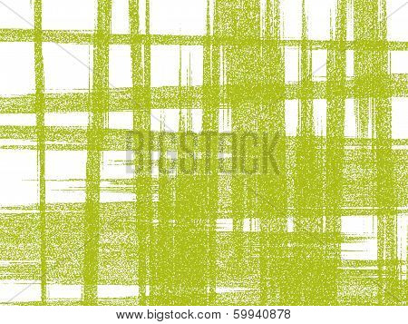 Light-green Roughly Woven Pattern On White