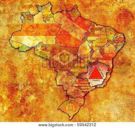 Minas Gerais State On Map Of Brazil