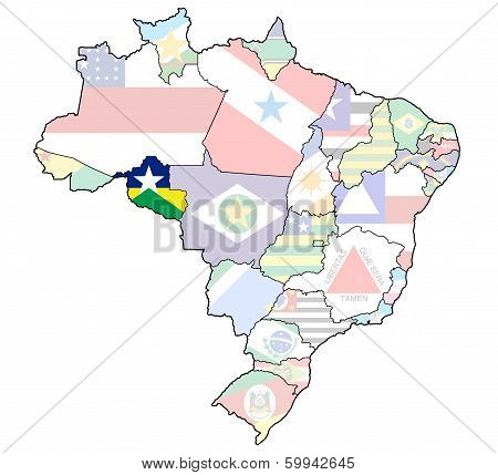 Rondonia State On Map Of Brazil