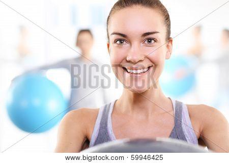 Beautiful aerobics trainer
