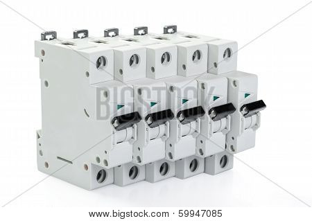 Five Automatic Circuit Breakers