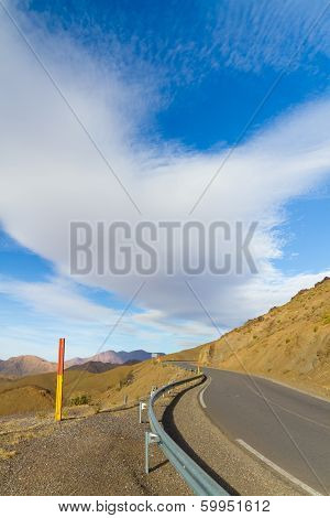 Morocco, High Atlas Mountains, Tizi N'tichka Pass.