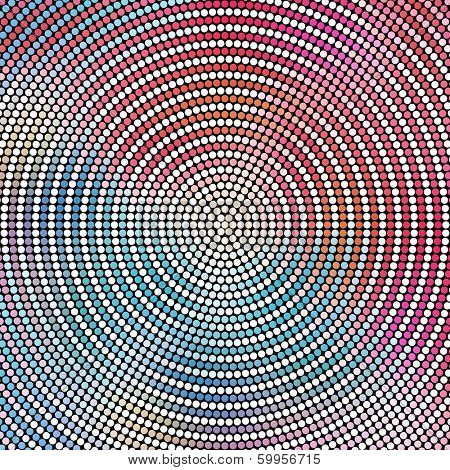 Concentric Mosaic Pattern