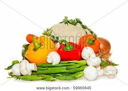 Colorful Vegetables arrangement