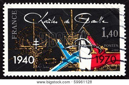 Postage Stamp France 1980 Charles De Gaulle