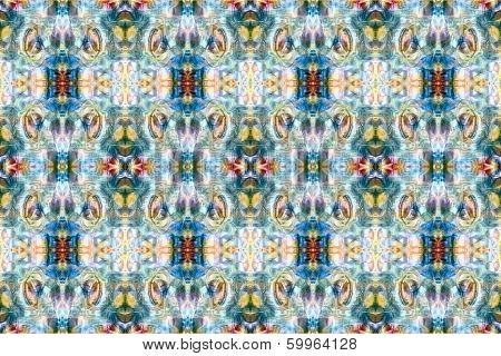 Intricate Ikat Pattern Background
