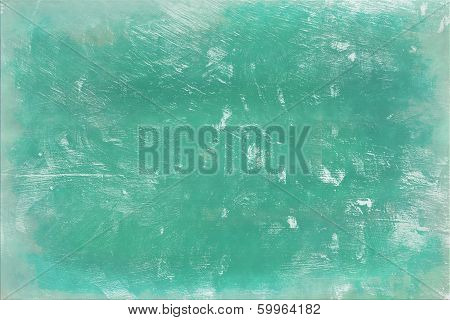 Scratched Green Wall Background