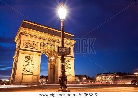 Place Charles De Gaulle, Arc De Triomphe, Paris, France