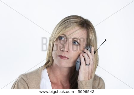 Beautiful Woman Talking On Phone