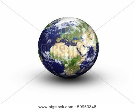 Earth Globe - Europe And Africa