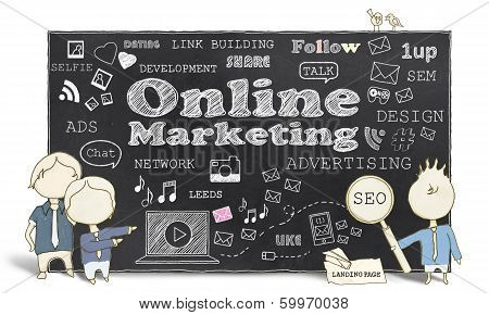 Online Marketing With Business Men